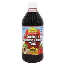 Dynamic health - turmeric and ginger tonic cranberry - 16 oz