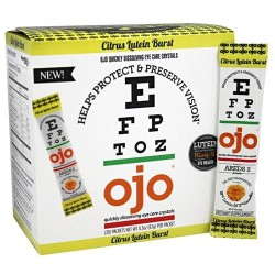 Ojo eye crystals - eye care crystals quickly dissolving citrus lutein burst - 30 packets