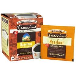 Teeccino herbal coffee hazelnut, medium roast - 10 tee bags,  6pack