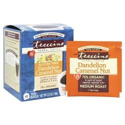 Teeccino - dandelion dark roast herbal coffee - 10 tee bags, 6 pack