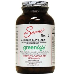 Sonnes greenlife 10, a dietary supplement tablets -360 ea