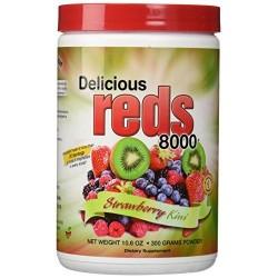 Greens world delicious reds 8000 strawberry kiwi - 10.6 oz