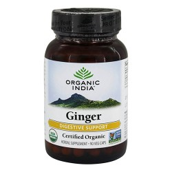 Organic india natural ginger capsules - 90 ea