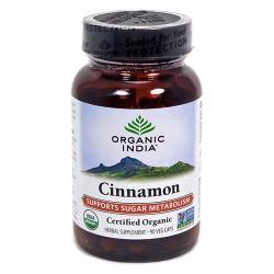 Organic india cinnamon vegetarian capsules - 90 ea
