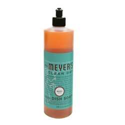 Mrs. Meyers clean day liquid dish soap basil - 16 oz