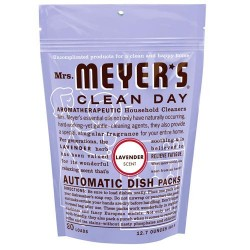 Mrs. Meyers clean day automatic dish packs, lavender  -  12.7 Oz