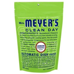 Mrs. Meyers clean day automatic dish packs 20 loads, lemon verbena  -  12.7 Oz