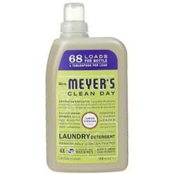 Mrs. Meyers 68 load 4x laundry detergent  lemon verbena  -  34 oz