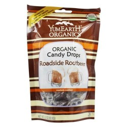 Yum Earth - Organic Candy Drops Gluten Free Roadside Rootbeer - 3.3 oz