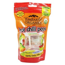 Yum Earth - Organic Lollipops Gluten Free Hot Chili Flavors - 3 oz