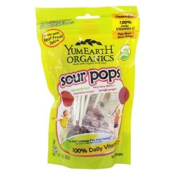 Yummy earth - organic lollipops gluten free super sour flavors - 3 oz