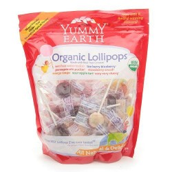 Yummy earth lollipops organic assorted flavors - 40 ea, 12pack