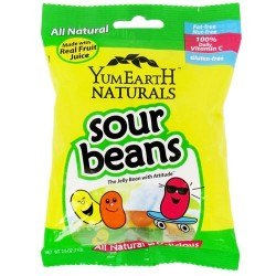 Yummy earth all natural sour jelly beans, gluten free - 2.5 oz, 12 pack