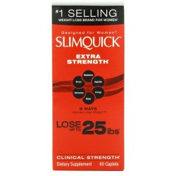 Slimquick pure extra strength weight loss caplets, women - 60 ea