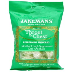 Jakemans Throat and Chest Lozenges, Peppermint Flavour - 30 ea