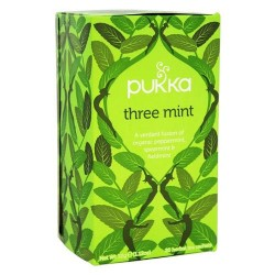 Pukka herbs - organic herbal tea three mint - 20 tea bags