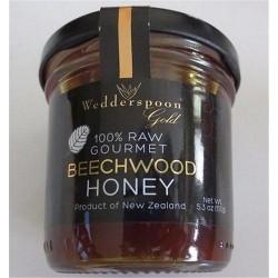 Wedderspoon gold 100percentage raw gourmet beechwood honey  -  5.3 oz