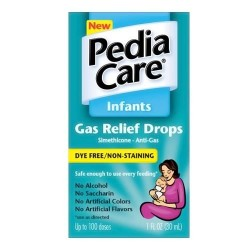 Pediacare infants dye free and non staining gas relief drops - 1 oz