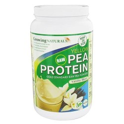 Growing Naturals Raw Yellow Pea Protein Powder, Vanilla Blast - 33.5 Oz