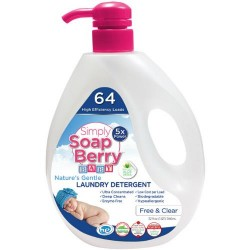 Simply soapberry laundry detergent free and clear baby - 32 oz
