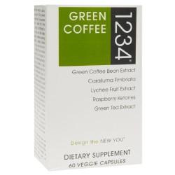 Creative bioscience green coffee 1234 veggie capsules - 60 ea