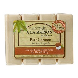 A La Maison de provence pure coconut 4 bars - 3.5 oz