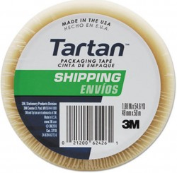 3M D tartan packing tape - 1.88, 12 ea