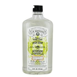 J.R.Watkins natural home care dish soap, aloe and green tea - 24 oz