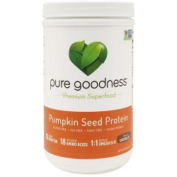 Pure goodness pumpkin seed protein supplements chocolate  16 oz