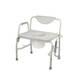 Drive Medical Bariatric Drop Arm Bedside Commode Chair - 1 ea