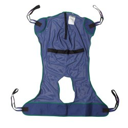 Drive Medical Full Body Patient Lift Sling, Mesh with Commode Cutout, Extra Large - 1 ea