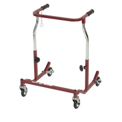 Drive Medical Anterior Rehab Safety Roller, Fixed Width, Adult, Burgundy - 1 ea