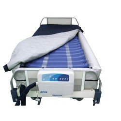 Drive Medical Med Aire Plus Defined Perimeter Low Air Loss Mattress Replacement System, with Low Pressure Alarm, 8 inches - 1 ea