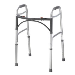Drive Medical Deluxe Two Button Folding Walker - 1 ea