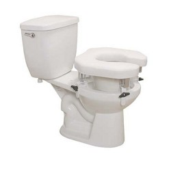 Drive medical padded raised toilet seat riser, standard seat - 1 ea