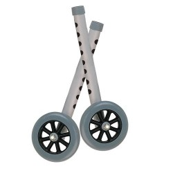 Drive Medical Extended Height Walker Wheels and Legs Combo Pack, 5 inches Wheels - 1 Pair