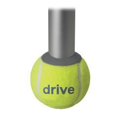 Drive Medical Walker Rear Tennis Ball Glides with Tennis Ball Can, 1 Pair - 1 ea