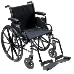 Drive Medical Cruiser III Light Weight Wheelchair with Flip Back Removable Arms, Desk Arms, Swing away Footrests, 16 inches Seat - 1 ea