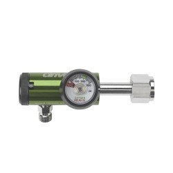 Drive Medical CGA 540 Oxygen Regulator 0-8 LPM DISS Outlet, Standard - 1 ea