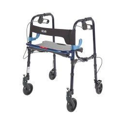 Drive Medical Clever Lite Walker Rollator, Junior, 5 inches Wheels, Flame Blue - 1 ea