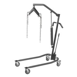 Drive Medical Hydraulic Patient Lift with Six Point Cradle, Silver Vein - 1 ea