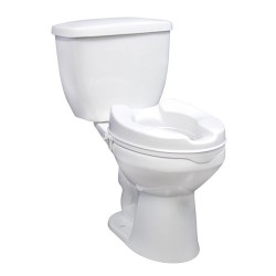 "Drive medical raised toilet seat with lock, standard seat, 2"" - 1 ea"
