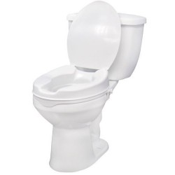 "Drive medical raised toilet seat with lock and lid, standard seat, 2"" - 1 ea"