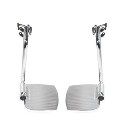 Drive Medical Front Rigging for Sentra EC Heavy Duty Extra Wide, Swing away Footrests - 1 Pair