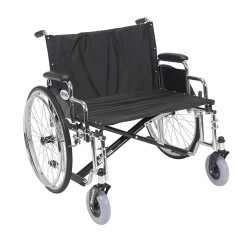 Drive Medical Sentra EC Heavy Duty Extra Wide Wheelchair, Detachable Desk Arms, 28 inches Seat - 1 ea