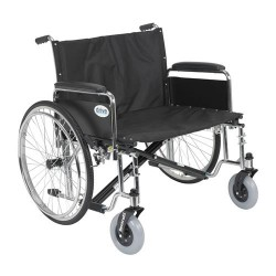 Drive Medical Sentra EC Heavy Duty Extra Wide Wheelchair, Detachable Full Arms, 28 inches Seat - 1 ea