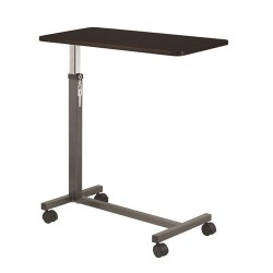 Drive medical non tilt top overbed table, silver vein - 1 ea