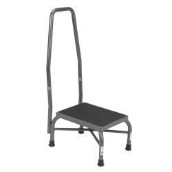 Drive Medical Heavy Duty Bariatric Footstool with Non Skid Rubber Platform and Handrail - 1 ea