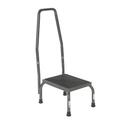 Drive Medical Footstool with Non Skid Rubber Platform and Handrail - 1 ea