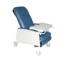 Drive Medical 3 Position Heavy Duty Bariatric Geri Chair Recliner, Blue Ridge - 1 ea